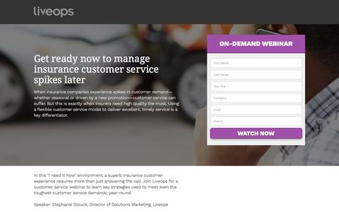 Screenshot of Landing Page liveops.com - Liveops, Inc. | Call Center Services | Virtual Customer Service and Contact Center BPO - captured March 27, 2018