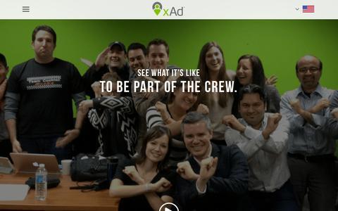 Screenshot of Jobs Page xad.com - Careers - xAd - captured Oct. 2, 2015