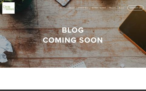 Screenshot of Press Page circleofwriters.com - Blog — Where Writing is Collaborative - captured July 13, 2016