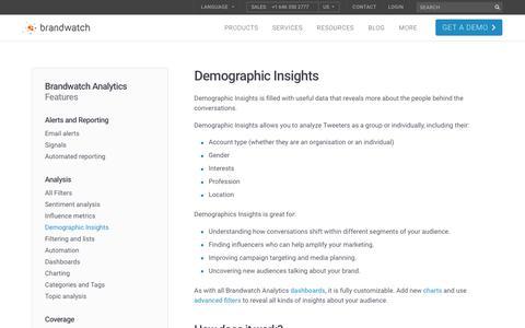 Demographic Insights | Brandwatch