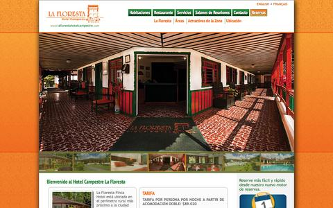 Screenshot of Home Page laflorestahotelcampestre.com - La Floresta Hotel Campestre - Armenia Quindio - Parque del Café - Colombia - captured Sept. 29, 2014