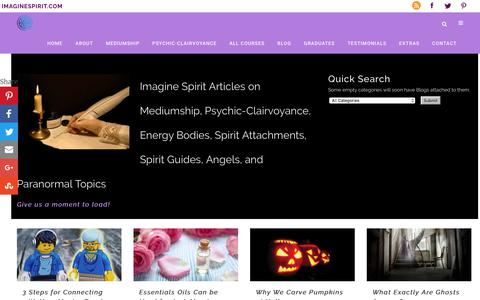 Screenshot of Blog imaginespirit.com - Imagine Spirit Articles | Best Psychic-Mediumship Training - captured Jan. 30, 2018