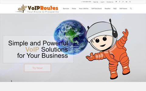 Screenshot of Home Page voip-routes.com - Business VoIP & Wholesale VoIP Routes Provider - captured Sept. 19, 2014