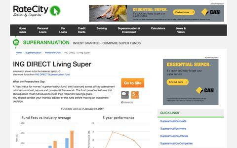 ING DIRECT Living Super Superannuation Fund | RateCity