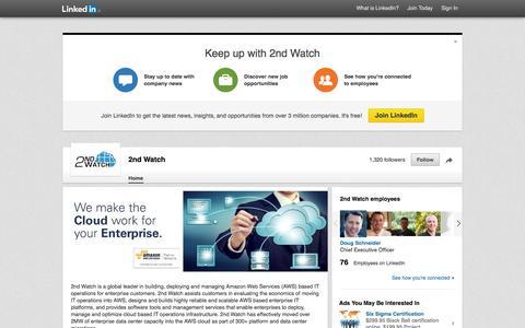 Screenshot of LinkedIn Page linkedin.com - 2nd Watch | LinkedIn - captured Oct. 25, 2014