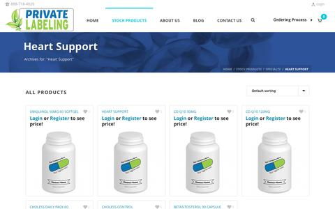 Heart Support Archives - Private Label Supplements and Vitamins