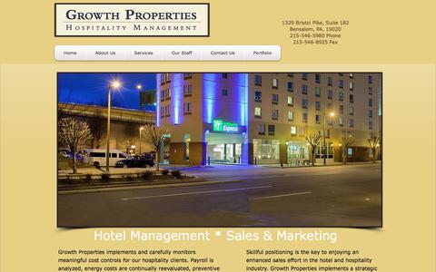 Screenshot of Services Page gpim.net - hotel management companies | Services - captured Sept. 19, 2017