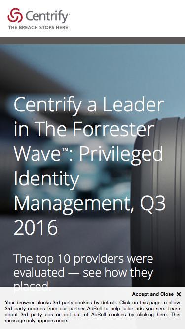 Centrify Leader In Forrester Wave PIM 2016