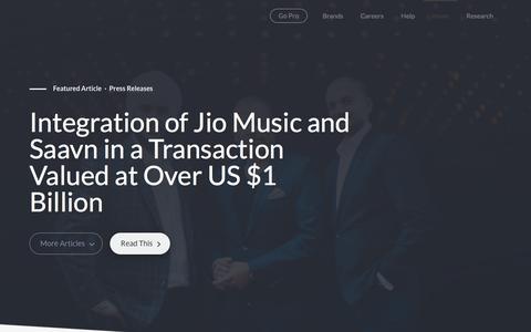 Screenshot of Blog saavn.com - Saavn News & Blog - captured July 12, 2018