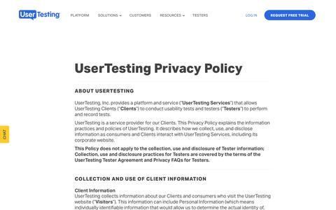 UserTesting Privacy Policy | UserTesting