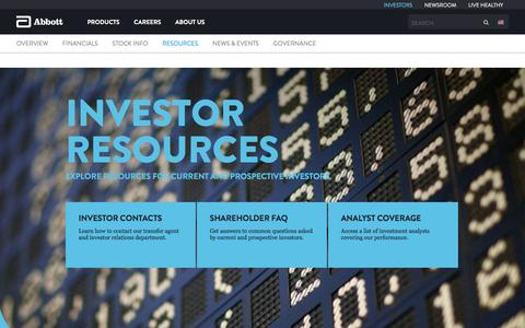 Investor Resources | Abbott U.S.