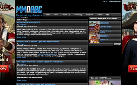 Screenshot of Blog mmoabc.com - Latest Blogs - MMOABC - captured Oct. 4, 2014