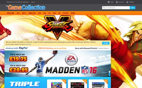 Screenshot of Home Page thegamecollection.net - The Game Collection The Game Collection - captured Feb. 7, 2016