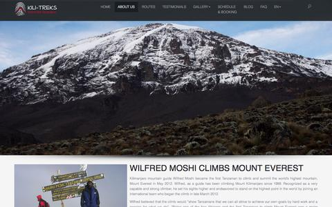 Screenshot of About Page kili-treks.com - About us | Kili-Treks EN - captured Nov. 3, 2014