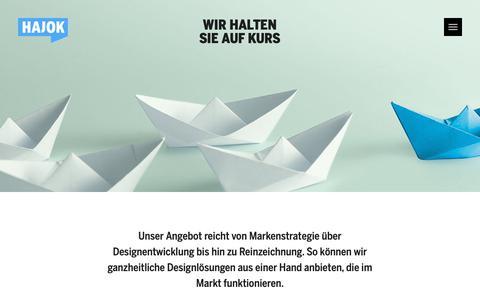 Screenshot of Services Page hajok.com - Branding- und Designagentur HAJOK: Das bieten wir - captured Dec. 13, 2018