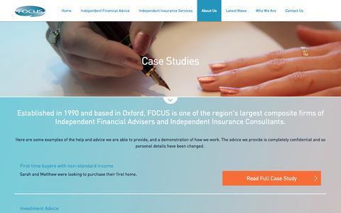 Screenshot of Case Studies Page focusllp.co.uk - Case Studies   Focus LLP Oxford - captured Oct. 27, 2014