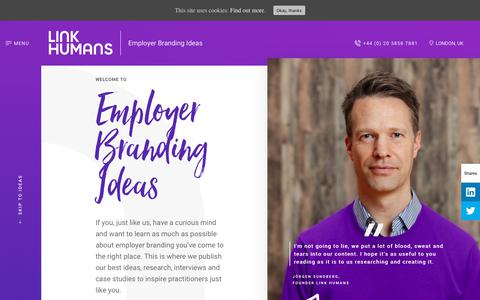 Screenshot of Blog linkhumans.com - Blog - Link Humans - captured July 20, 2018