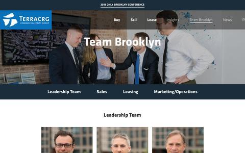 Screenshot of Team Page terracrg.com - Team Brooklyn – TerraCRG - captured Nov. 18, 2018