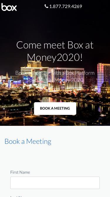 Meet Box at Money2020