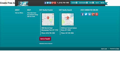 Screenshot of Signup Page Login Page exitpremiersells.com - Signup - captured July 24, 2018