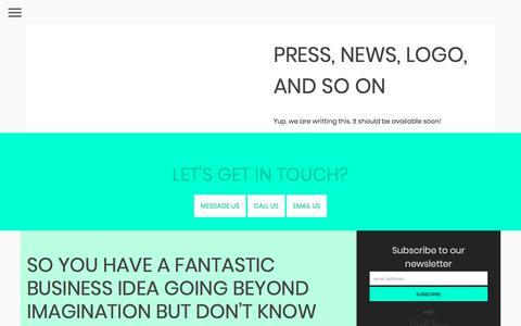 Screenshot of Press Page oopo-digital-website.firebaseapp.com - Press, news, logo, and so on - captured July 7, 2018