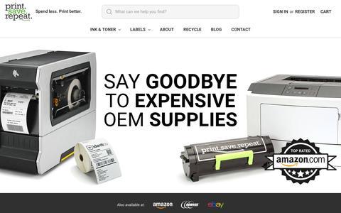 Screenshot of Home Page printsaverepeat.com - Print.Save.Repeat. | Toner Cartridges & Thermal Labels - captured Jan. 13, 2020