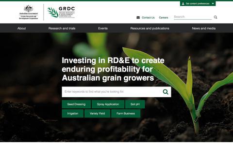 Screenshot of Home Page grdc.com.au - Home - GRDC - captured Aug. 28, 2017