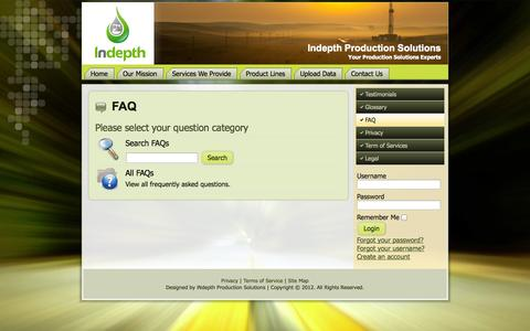 Screenshot of FAQ Page indepthps.com - FAQ - captured Oct. 3, 2014