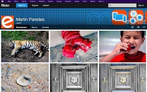 Screenshot of Flickr Page flickr.com - Flickr: cognent's Photostream - captured Nov. 2, 2014