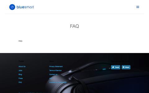 Screenshot of FAQ Page bluesmart.com - FAQ | Bluesmart - captured Oct. 29, 2014