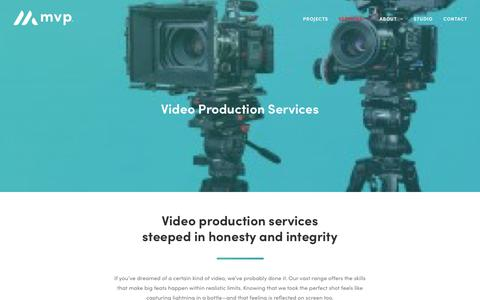 Screenshot of Services Page maximizevideo.com - Video Production Services   Maximize Video Productions   SF Bay Area - captured June 19, 2019