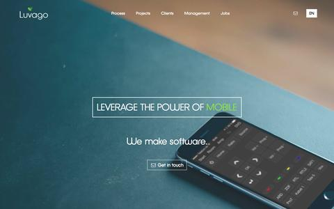 Screenshot of Home Page luvago.com - LUVAGO - captured April 12, 2016