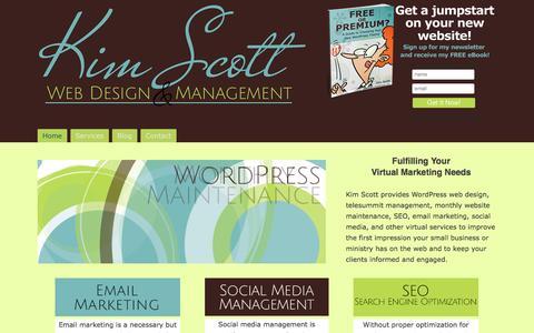 Screenshot of Home Page kimscottwebdesign.com - Kim Scott Web Design - captured Sept. 30, 2014