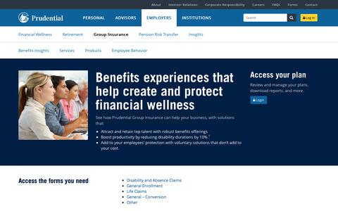 Group Insurance Prudential Financial Employers | Prudential Financial