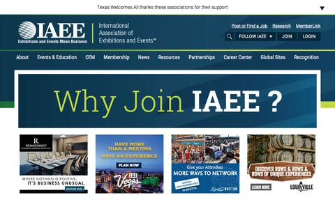 Screenshot of Signup Page iaee.com - Membership - International Association of Exhibitions and Events - captured Nov. 29, 2017