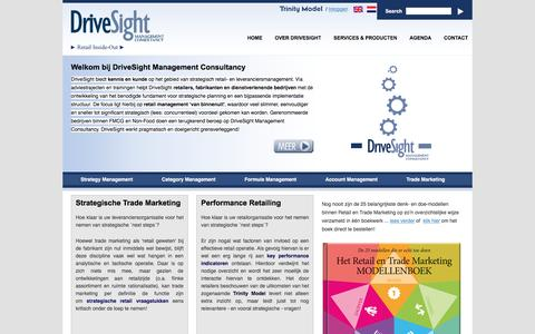 Screenshot of Home Page drivesight.com - DriveSight - Retail Inside-Out - captured Feb. 9, 2016