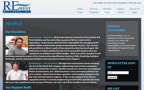 Screenshot of Team Page rewestbuilders.com - People   R·E West Builders - captured Sept. 30, 2014