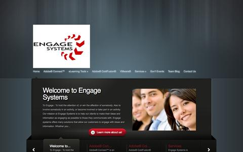Screenshot of Home Page engage-systems.com - Engage Systems | Engaging solutions for your software needs - captured Oct. 2, 2014