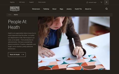 Screenshot of Team Page heathceramics.com - People – Heath Ceramics - captured Nov. 4, 2018