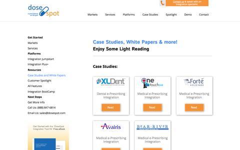 Screenshot of Case Studies Page dosespot.com - e-Prescribing Integration and software – Papers | DoseSpot - captured Sept. 30, 2014