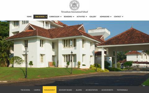 Screenshot of Team Page trins.org - Trivandrum International School Management | George M Thomas | Sapnu George - captured Dec. 3, 2018