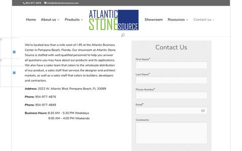 Screenshot of Contact Page Locations Page atlanticstonesource.com - Locations - Atlantic Stone Source - captured May 31, 2017