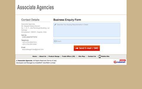 Screenshot of Contact Page surveyinginstrumentindia.com - Enquiry Form | Associate Agencies - captured Oct. 4, 2014