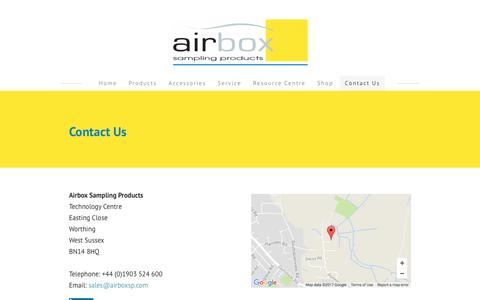 Screenshot of Contact Page airboxsp.com - Airbox -contact us - Airbox - captured Oct. 7, 2017