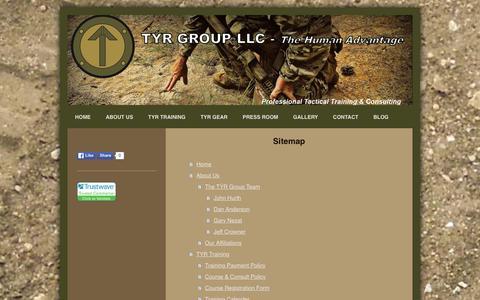 Screenshot of Site Map Page tyrgroupllc.com - TYR Group LLC - Home - captured Jan. 12, 2016