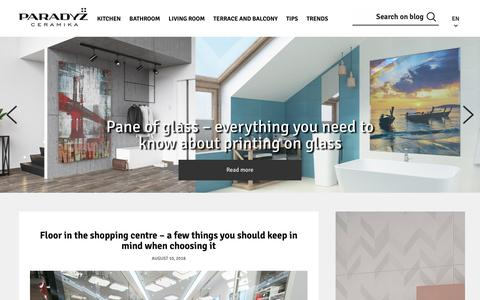 Screenshot of Blog paradyz.com - Paradyz blog - inspirations, arrangements, projects and much more - Latest trends, advices, arrangements, projects and inspirations. All of them you can find on our blog. - captured Sept. 27, 2018