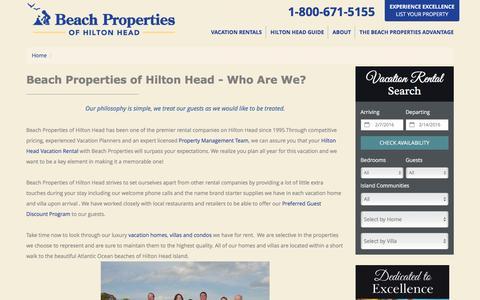 Screenshot of About Page beach-property.com - Beach Property Rentals ~ Hilton Head ~ Meet the Team - captured Feb. 7, 2016