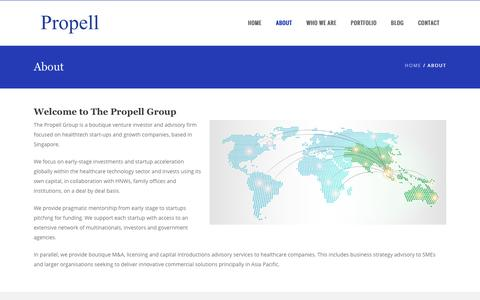 Screenshot of About Page propellgroup.biz - The Propell Group   –  About - captured Dec. 6, 2016
