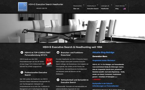 Screenshot of Home Page executive-search.ag - HSH+S Executive Search Headhunter [www.executive-search.ag] - captured Oct. 1, 2014