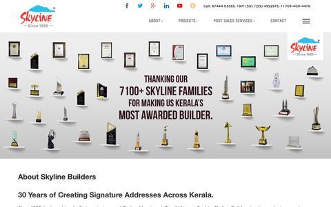 Screenshot of About Page skylinebuilders.com - Leading Real Estate Developer in Kerala | Skyline Builder - captured June 18, 2019